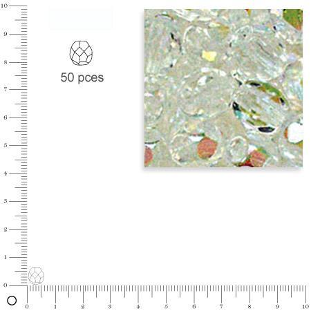 Facettes dépolies - Cristal de roche - 6 mm x 50 pces