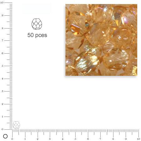Facettes dépolies - Topaze clair - 6 mm x 50 pces