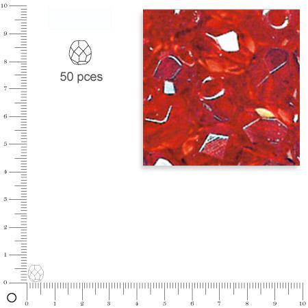 Facettes dépolies - Rubis - 6 mm x 50 pces
