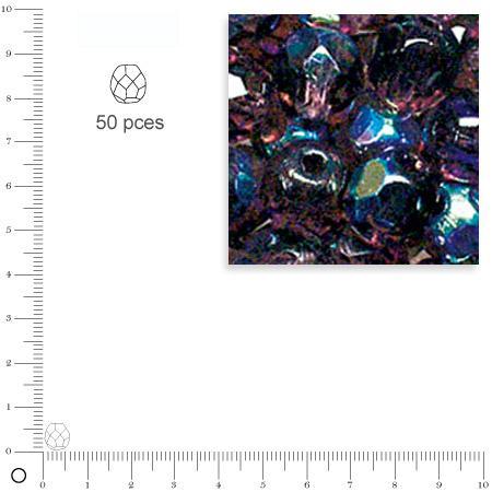 Facettes dépolies - Améthyste - 6 mm x 50 pces