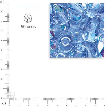 Facettes dépolies - Aigue-marine - 6 mm x 50 pces
