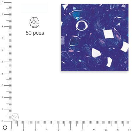 Facettes dépolies - Saphir - 6 mm x 50 pces