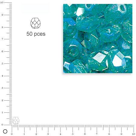 Facettes dépolies - Emeraude - 6 mm x 50 pces