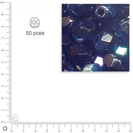 Facettes dépolies - Onyx - 6 mm x 50 pces