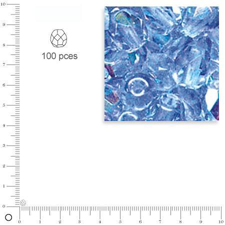 Facettes dépolies - Aigue-marine - 3 mm x 100 pces