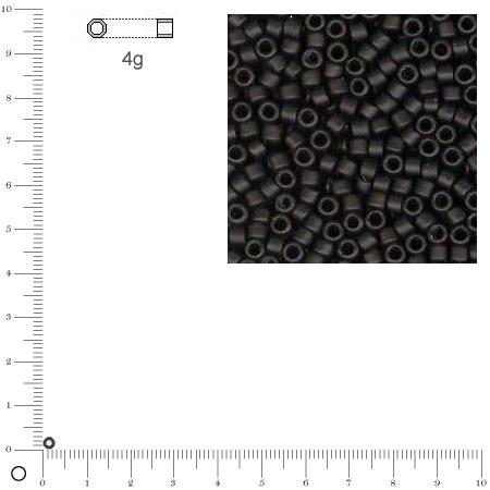 Miyuki Delicas 10/0 métallique dépoli - Gris acier DBM0321 MAT - 4 g