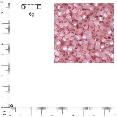 Miyuki Delicas 10/0 éclat de perle - Rosé DBM0624 - 6 g