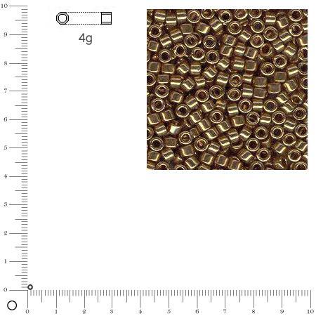 Miyuki Delicas 11/0 métallique - Topaze fumé DB0022 - 4 g