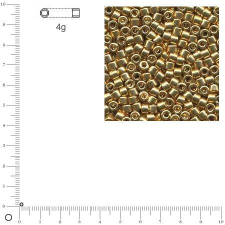 Miyuki Delicas 11/0 métallique - Or DB0410 - 4 g