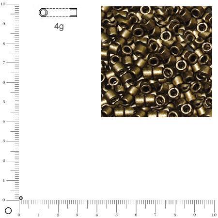 Miyuki Delicas 11/0 métallique dépoli - Topaze fumé DB0322 MAT - 4 g