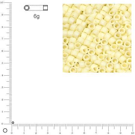 Miyuki Delicas 11/0 - Blanc DB0352 MAT - 6 g