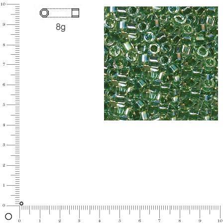 Miyuki Delicas 11/0 transparent rainbow - Jaspe DB0060 - 8 g