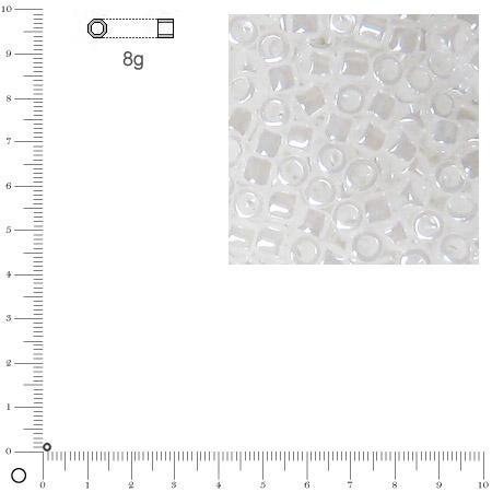 Miyuki Delicas 11/0 éclat de perle - Blanc albâtre DB0231 - 8 g