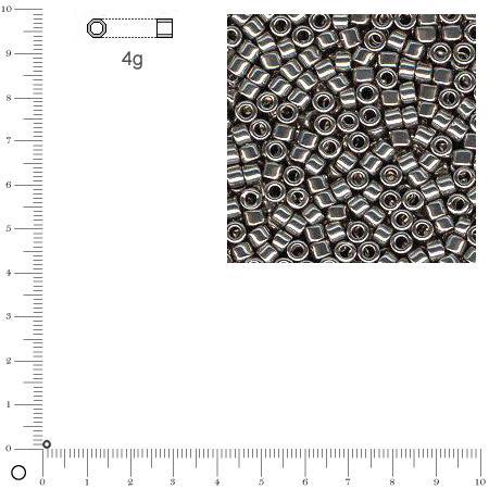 Miyuki Delicas 11/0 métallique - Gris acier DB0021 - 4 g
