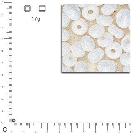'Rocailles opaques - Blanc - Ø 2,6 mm x 17 g