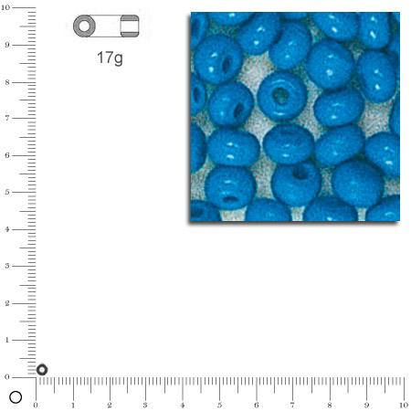 'Rocailles opaques - Turquoise - Ø 2,6 mm x 17 g