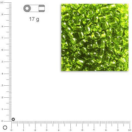 'Rocailles transparentes - Vert clair - Ø 2,6 mm x 17 g