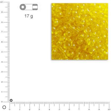 'Rocailles transparentes - Jaune - Ø 2,6 mm x 17 g
