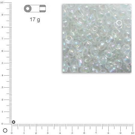 'Rocailles transparentes lustrées - Argent - Ø 2,6 mm x 17 g