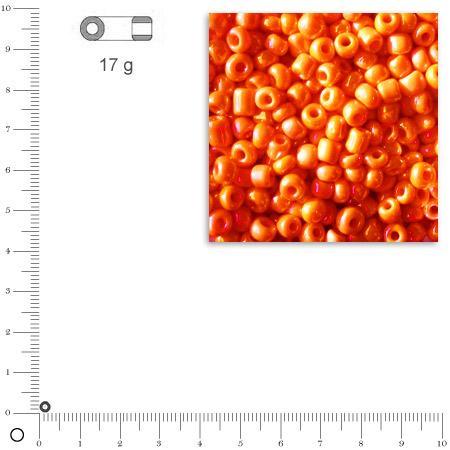 'Rocailles opaques lustrées - Orange - Ø 2,6 mm x 17 g