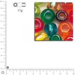 Mini-rocailles transparentes lustrées - 2 mm