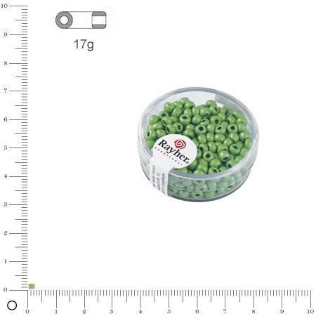 'Rocaille Metallic dépoli - Vert tilleul - Ø 2,6 mm x 17 g