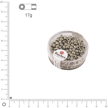 'Rocaille Metallic dépoli - Argent brillant - Ø 2,6 mm x 17 g