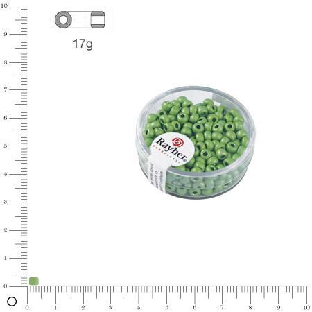 'Rocaille Metallic dépoli - Vert tilleul - Ø 4 mm x 17 g