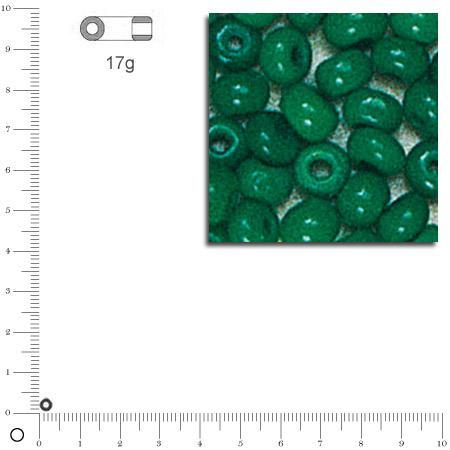 'Rocailles opaques - Vert - Ø 2,6 mm x 17 g