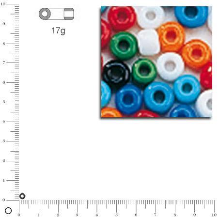 'Rocailles opaques - Assortiment - Ø 2,6 mm x 17 g