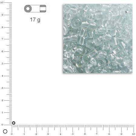 Rocailles transparentes - Cristal - Ø 2,6 mm x 17 g