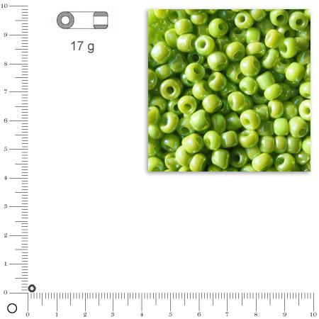'Rocailles opaques lustrées - Vert clair - Ø 2,6 mm x 17 g