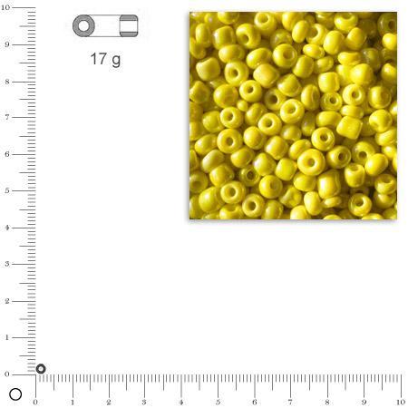 'Rocailles opaques lustrées - Jaune - Ø 2,6 mm x 17 g