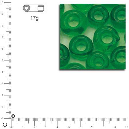 Mini-rocailles transparentes - Vert - Ø 2 mm x 17 g