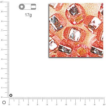 Mini-rocailles intérieur argenté - Rose - Ø 2 mm x 17 g