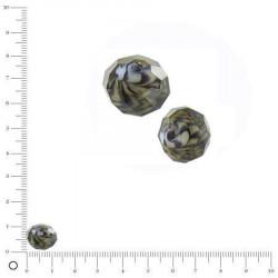 Perles en verre tigrée à facettes