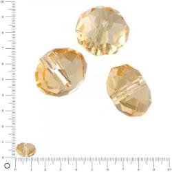 Perles en verre à facettes