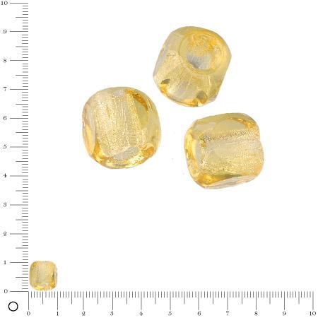 Perles en verre à facettes Ø 10 mm - Topaze x 6 pces