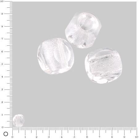 Perles en verre à facettes Ø 10 mm - Transparent x 6 pces