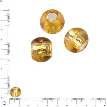 Perle en verre Ø 12 mm - Topaze argenté