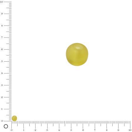 Perle en verre dépoli Ø 4,5 mm - Jaune pâle