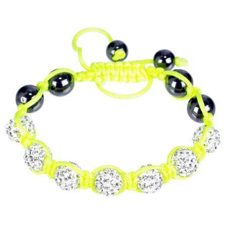 Perle en verre dépoli - Néon - Ovale 2 trous - 5 x 3 mm - Jaune Fluo
