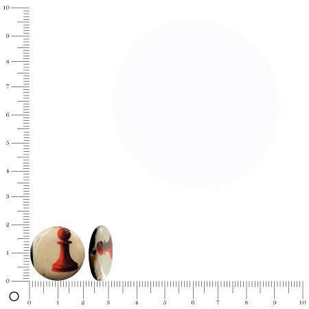 Perle soucoupe recouverte de papier Ø 20 mm - Echecs