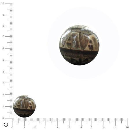 Perle ronde recouverte de papier Ø 15 mm - Chiffres lettres