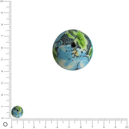Bolero - Perle en tissu - Vert bleu - Ø 10 mm