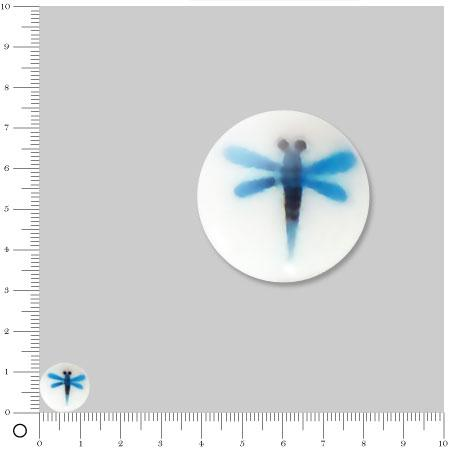 Perle plate Ø 12 mm - Libellule