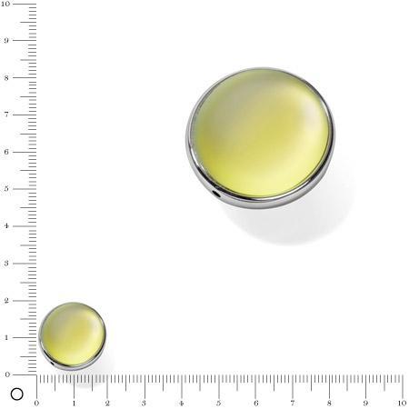 Perle Luna soft Ø 20 mm - Jaune