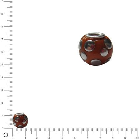 Perle pastilles argentées Ø 11 mm - Orange