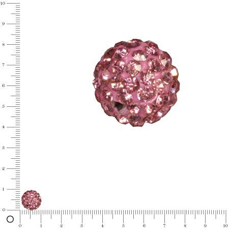 Perle Shamballa - Ø 10 mm - Rose