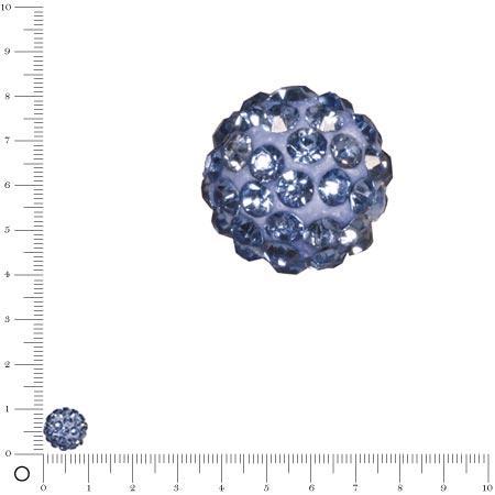 Perle Shamballa - Ø 10 mm - Bleu clair